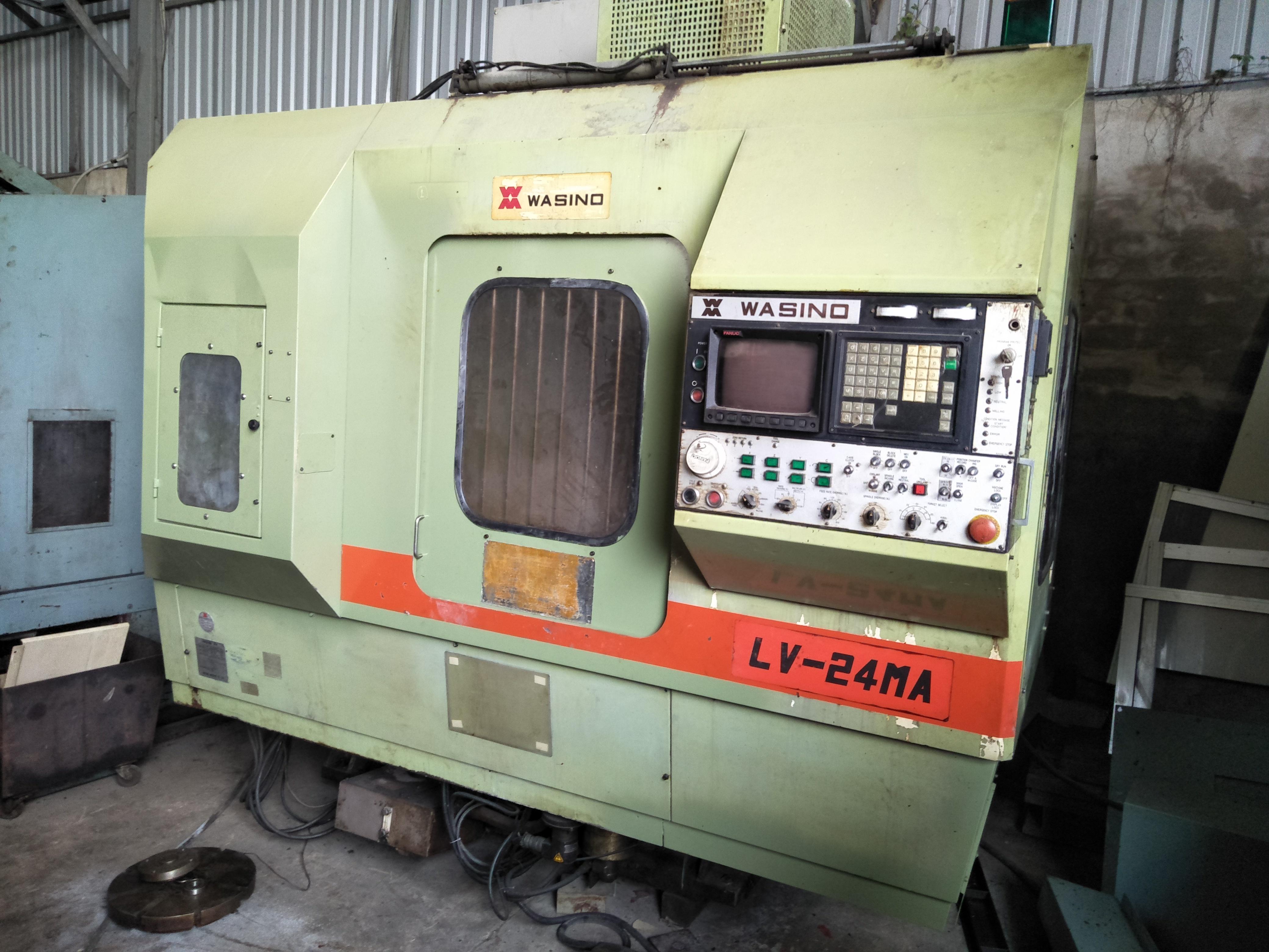 Máy tiện đứng WASINO LV-24MA(Có đầu phay)